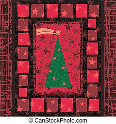 advenimiento, árbol de navidad, tarjeta de felicitación