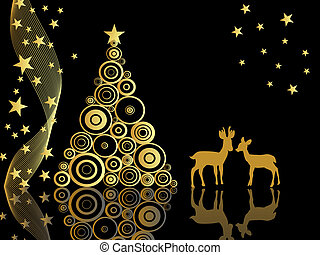 advent, animal, art, backdrop, back - vector illustration of...