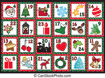 Advent calendar - Illustration for advent calendar with...