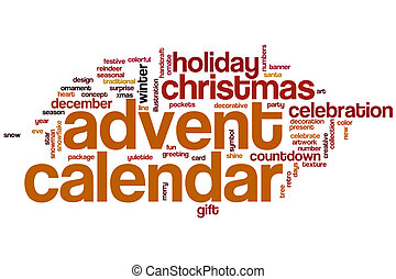 Advent calendar word cloud concept