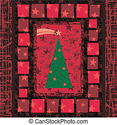 Advent Christmas Tree Greeting Card