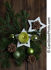 Advent decoration - Christmas table decoration for Advent...