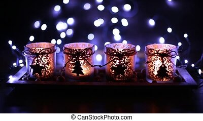 Advent, four candles