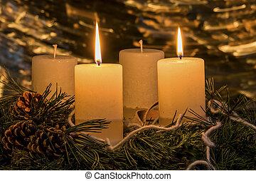 advent wreath for christmas - an advent wreath at christmas...