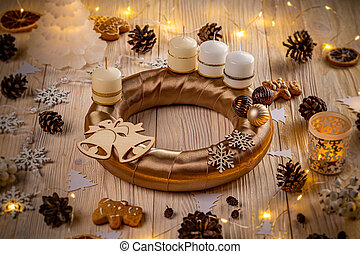 Advent wreath for the pre Christmas time
