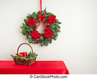 Advent wreath over side board