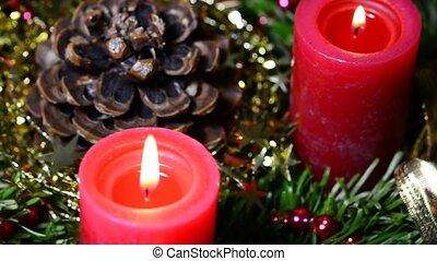 Advent wreath - advent wreath on turn table