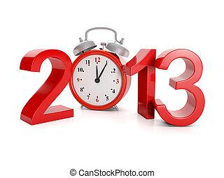advento, feriados, illustration:, ano, events., 2013, 3d