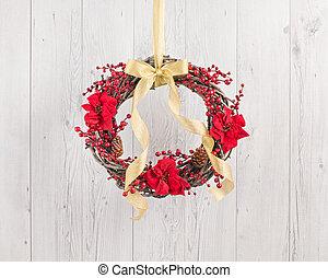 Advents wreath with autumn decoration