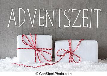 adventszeit, 手段, 季節, 到来, 2, 贈り物, 雪