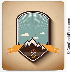 Adventure badge design. All items in layers