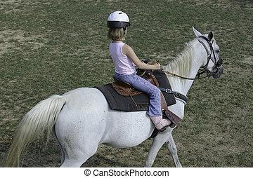 Adventure Camp at Hiram House Camp. August 2011. Western horsemanship elementary riding program.