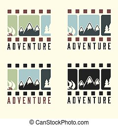 adventure film tape vintage set