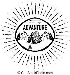 Adventure grunge retro logo