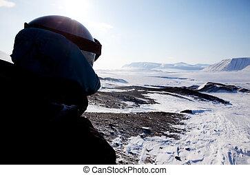 Adventure Guide - A winter adventure guide on a barren ...