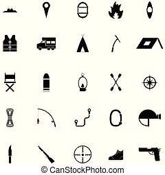 adventure icon set