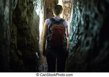 Adventure in Hezekiah's Tunnel in Jerusalem