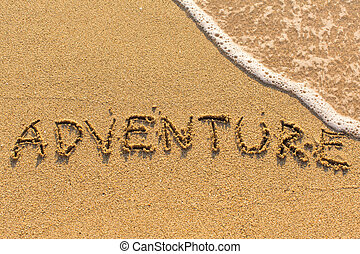 Adventure - inscription by hand