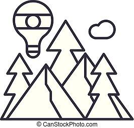 Adventure line icon concept. Adventure vector linear illustration, symbol, sign