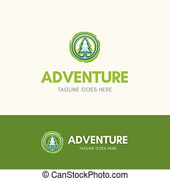 Adventure Logo Template icon with simple pine symbol