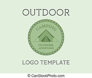 Adventure Outdoor Tourism Travel Logo Template Vintage...