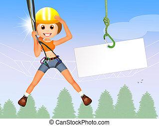 Adventure park - illustration of Adventure park