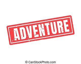 adventure red stamp style