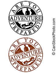 Adventure rubber stamp