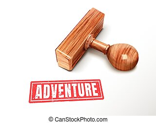 adventure text and stamp