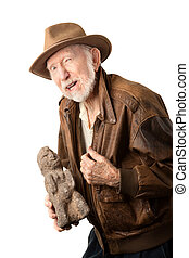 Adventurer or archaeologist offering to sell idol - ...