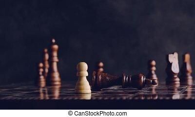 adversaire, jeu, enjôleur, échecs, sur