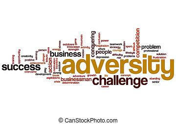Adversity word cloud concept