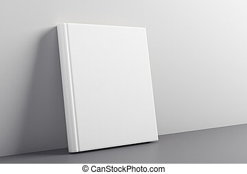 Advert concept - Empty closed white hardcover notepad...