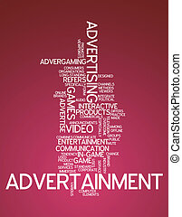 """advertainment"", mot, nuage"