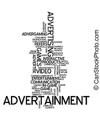 """advertainment"", mot, nuage"