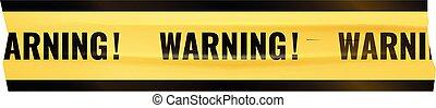 advertencia, cinta adhesiva