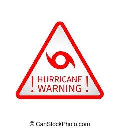 advertencia, huracán, muestra del camino