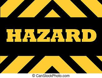 advertencia, muestra del peligro