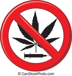 advertencia, prohibir, droga