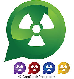 advertencia, radioactivo
