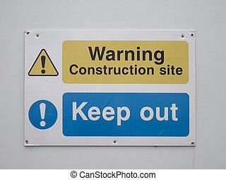 advertencia, seguridad, señal
