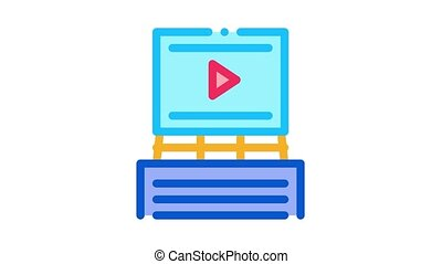 advertisement announcement Icon Animation. color advertisement announcement animated icon on white background