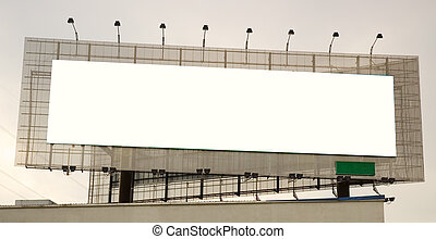 Advertisement Banner Space - A blank/white landscape ...