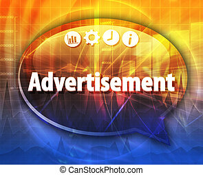 Advertisement Business term speech bubble illustration