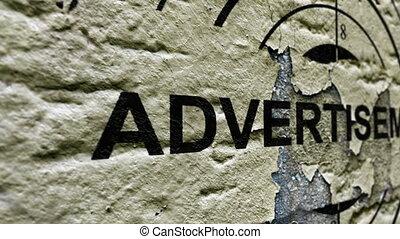 Advertisement grunge target