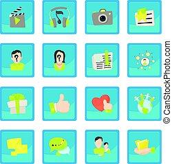 Advertisement icon blue app