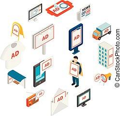 Advertisement icons set