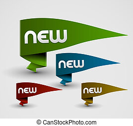 advertisement labels stickers