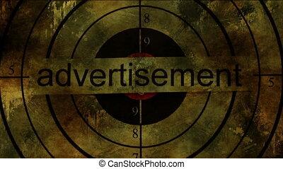 Advertisement text on grunge background