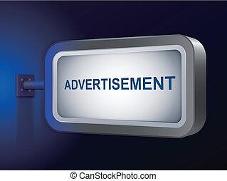advertisement word on billboard